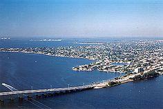 Cape Coral Florida - coming over the Cape Coral Bridge from South Ft. Myers to Cape coral