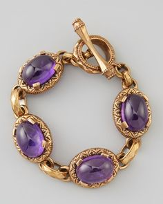 Stephen Dweck Floral-Engraved Bracelet, Purple from Neiman Marcus on shop.CatalogSpree.com, your personal digital mall.