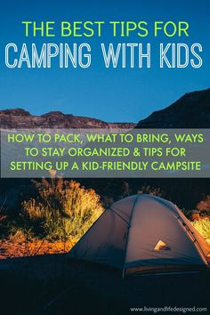 AWESOME Camping Tips! Great for our camping trip with three kids in a couple weeks. Love the idea of a play tent just for the kids.