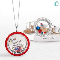 Origami Owl Summer 2015 Collection!!  Red twice face & patriotic charms. www.elizabethjenkins.origamiowl.com