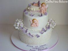Tort de botez pentru Ana Maria | Cadoul Tau Dulce Children, Cake, Desserts, Food, Pie Cake, Tailgate Desserts, Boys, Pie, Deserts