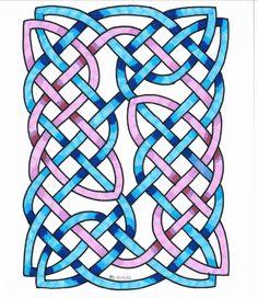 Celtic symmetry geometric pattern