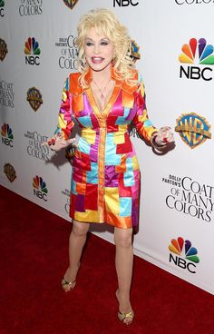 A Tribute to Dolly Parton's Working-Girl Style: At the premiere of Dolly Parton's Coat of Many Colors in Hollywood in 2015.