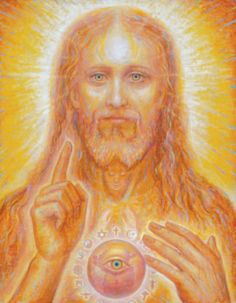 Ascended Master Jesus/Sananda. This depicts the connection with the heart, throat, and mind all coming together towards illumination.
