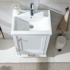 Gracie Oaks Trogdon Sliding Barn Door Single Bathroom Vanity Set & Re. Single Bathroom Vanity, Master Bathroom, Single Vanities, Drainage Installation, Woodsy Decor, Ceramic Undermount Sink, Sink Top, Porcelain Sink, Bathroom Pictures