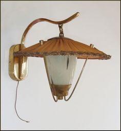 50 ER Jahre Lampe Wandlampe Tolle Optik Funktionsfhig