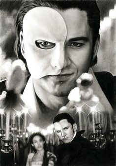 Pencil Drawing - PHANTOM - Gerard Butler by akaLilith on deviantART