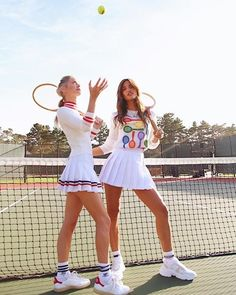 Game, Set, Match🎾 Champagne open to kick off Tennis Shop the Look from Rocky Barnes on ShopStyle Sporty Girls, Sporty Outfits, Mode Outfits, Tennis Outfits, Sporty Chic, Socks Outfit, Golf Outfit, Tennis Outfit Girl, Girls Tennis Dress