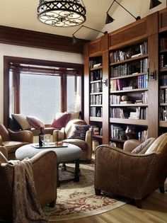 Trendy Home Library Room Study Chairs Ideas Home Library Rooms, Home Library Design, Home Libraries, House Design, Cozy Library, Library Ideas, Modern Library, Dream Library, Vintage Library