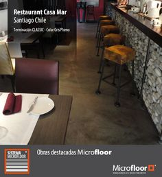 Pavimento restaurant - Revestimiento en microcemento Microfloor Línea Classic