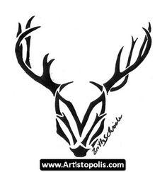 Tribal Deer Head Tattoos 07
