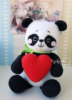 Crochet toy pattern Panda in Love PDF par MyCroWonders sur Etsy