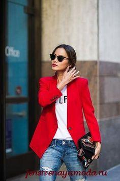 1cf328b85144 С чем носить красный в одежде – яркие образы на каждый день. Mode OutfitsCasual  ...