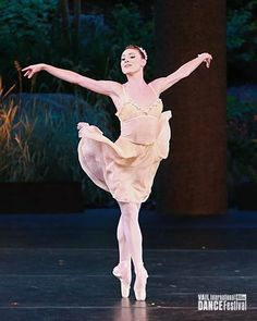 "Tiler Peck  (New York City Ballet) in the ""Tchaikovsky Pas de Deux"" / photo by Erin Baiano"