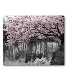 Love this Pink Spring Blooms I Gallery-Wrapped Canvas by Courtside Market on #zulily! #zulilyfinds