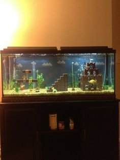 Lego in fish tank...cool idea