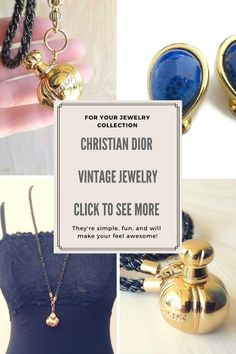Christina Dior Vintage Jewelry Click to see more ...