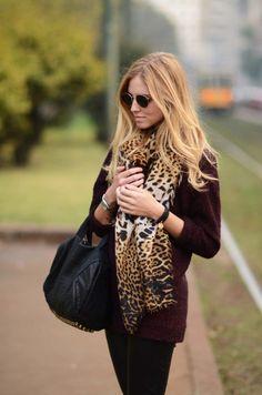 #scarf #animal #print <3 Fashion Style