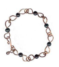 Copper and Blackstone Bracelet | Omisilver - Jewelry on ArtFire