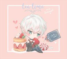 tea time! ♡ 「with unknown.」 ♡ other menus: yoosung. || jaehee.