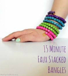 DIY 15 Minute Faux Stacked Bangles - Jewelry Making