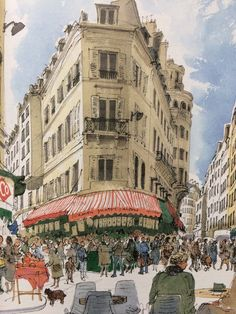 """The enchanting City of Lights shines as never before...in watercolour! David Gentleman used his creativity and keen eye to evoke his native Britain. He now ventures beyond his own shores to express his passion for the beautiful city of Paris, with its leafy boulevards, Metro, Luxembourg Gardens, and """"architectural survivors"""" of a time gone by."""