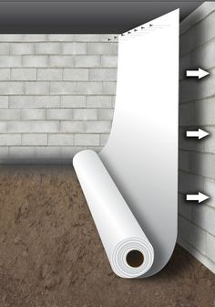 Let Flexi-Seal be the barrier your crawlspace needs to stay clean, dry, and ventilated all season long. Entire basements and crawlspaces can be completely sealed off from external moisture and ground vapor. Flexi-Seal is durable to withstand all of your Wet Basement, Basement Bedrooms, Basement Ideas, Basement Waterproofing, Basement Subfloor, Basement Designs, Sealing Basement Walls, Basement Plans, Basement Bathroom