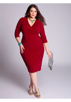 Plus Size Lempika Dress. I'm not always a fan of this type of dress but i love the color.