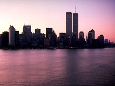 New York, when the Twin Towers were still standing
