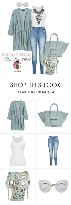 """""""Untitled #2634"""" by stylebydnicole ❤ liked on Polyvore featuring H&M, American Vintage, City Chic, Giuseppe Zanotti and DYLANLEX"""