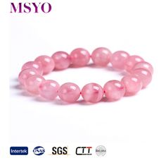 MSYO brand pink crystal natural stone bracelet for women