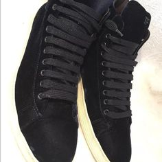 Tom Ford blue velvet men's blue sneakers size 13T Great quality brand shoes that has some gentle used with minor trace of dirt on the white part of the rubber. Tom Ford Shoes Athletic Shoes