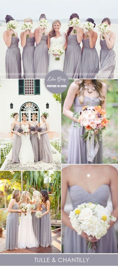 lilac gray wedding colors ideas 2016 and spring bridesmaid dresses ideas 2016