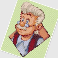 PDF Cross Stitch pattern  0240.Geppetto by PDFcrossstitch on Etsy, $3.75