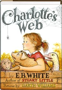 """Charlotte's Web - Books like Charlotte's Web seem to come around once in a blue moon. E.B. White's classic tale of the true meaning of friendship and love, growing up and the courage to face the many challenges of life is one of those books that will make you fall in love with reading all over again.The story of Wilbur, a humble pig whose life is saved twice (first by a young girl and then by his best friend, an outspoken spider named Charlotte who convinces everyone that he is """"some pig!"""") has… Garth Williams, Stuart Little, Jack Black, Ya Books, Books To Read, Story Books, Quiet Books, Free Books, Charlotte's Web Book"""