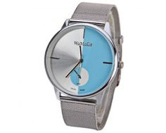 WoMaGe Quartz Watch with Strips Indicate Steel Watch Band for Men - Blue Cheap Watches For Men, Cool Watches, Men's Watches, Sammy Dress, Quartz Watch, Watch Bands, Steel, Blue, Stuff To Buy