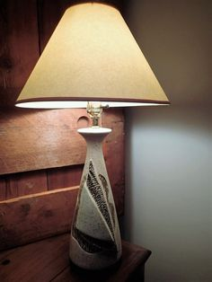 Mid Century Table Lamp Nautical design shade not included