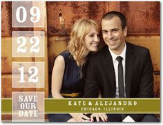 Save the date by Wedding Paper Divas