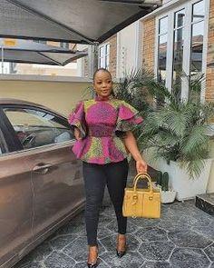 Short African Dresses, African Blouses, Latest African Fashion Dresses, African Print Dresses, African Print Fashion, African Print Pants, African Print Dress Designs, Baby African Clothes, African Tops For Women