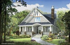 Plan of the Week over 2500 sq ft - The Amelia 1360-D! 2793 sq ft, 4 beds, 3 baths. #WeDesignDreams