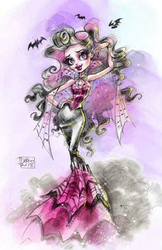 Draculaura Monster High Collector Doll Illustration by Darko, 2015