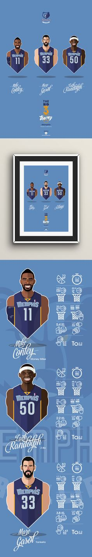 #NBA #players #GRIZZLIES #Memphis #vector face Big Men Big 3 #playoffs sport basketball illustration #Gasol #Conley #Randolph
