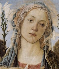 Sandro Botticelli ~ Mary with the Child and Singing Angels (detail), c.1477