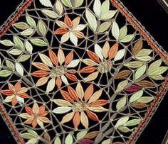 Piece of lace shown at Hotel de la dentelle a brioude (Auvergne). Tatting Patterns, Lace Patterns, Crochet Art, Irish Crochet, Bobbin Lacemaking, Lace Heart, Lace Jewelry, Lace Making, Lace Flowers