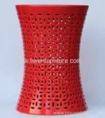 Chinese antique furniture - ceramic stool (red)