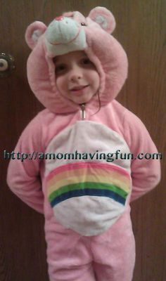 A very loved Care Bear costume!