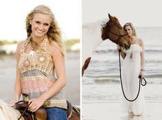 horses on a beach. love.