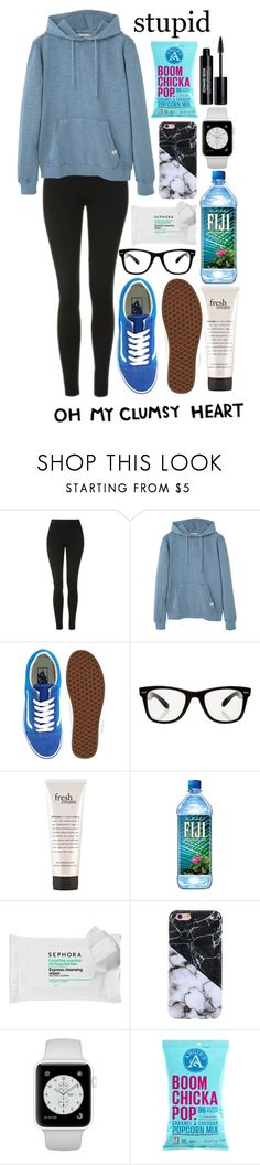 """Oh my clumsy heart"" by lost-in-a-paper-town ❤ liked on Polyvore featuring Topshop, MANGO, Vans, All Day, philosophy, Sephora Collection, Again and Edward Bess"