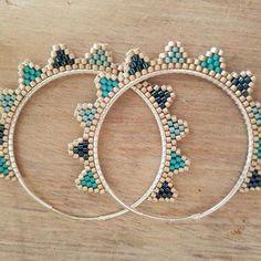 beaded earrings making #BeadedEarrings
