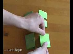 Simple paper folding that makes multiple interesting shapes.  Less than 2 minutes.